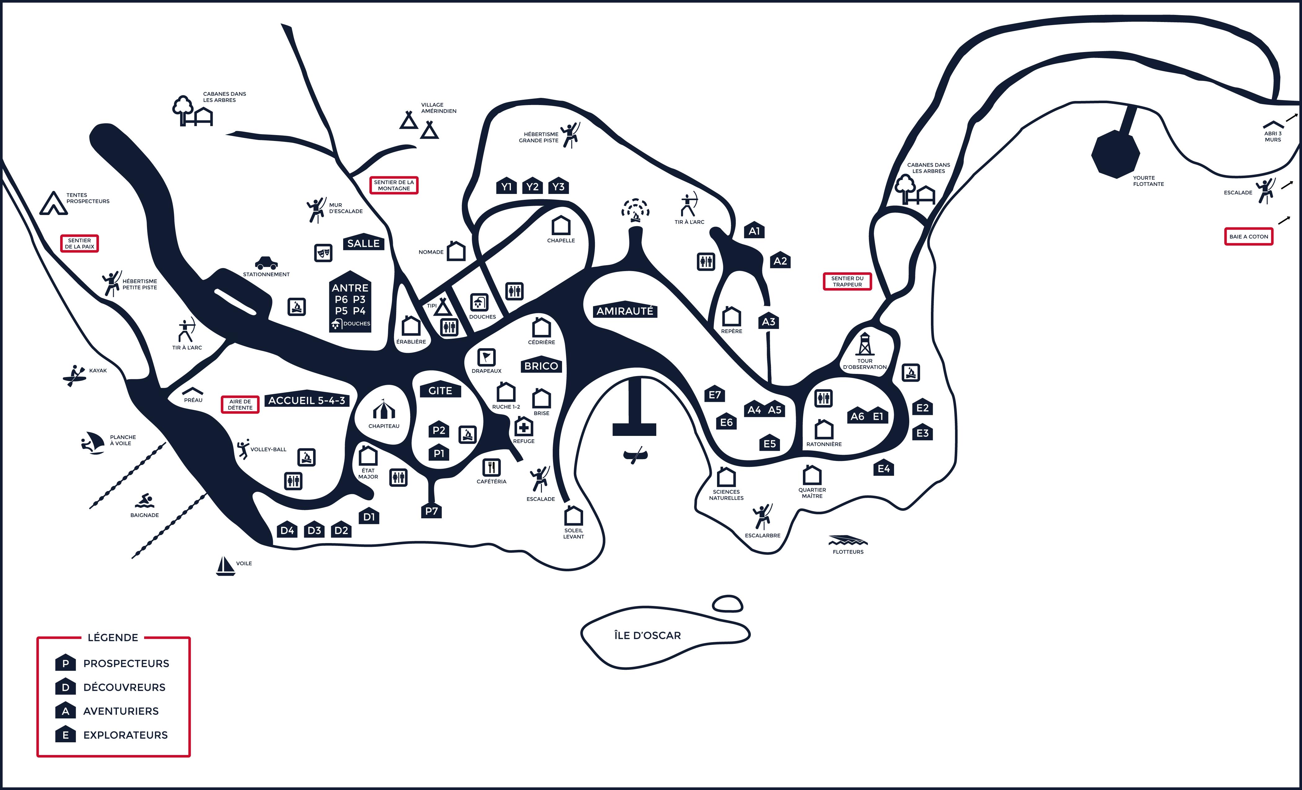Plan du site Camp de vacances