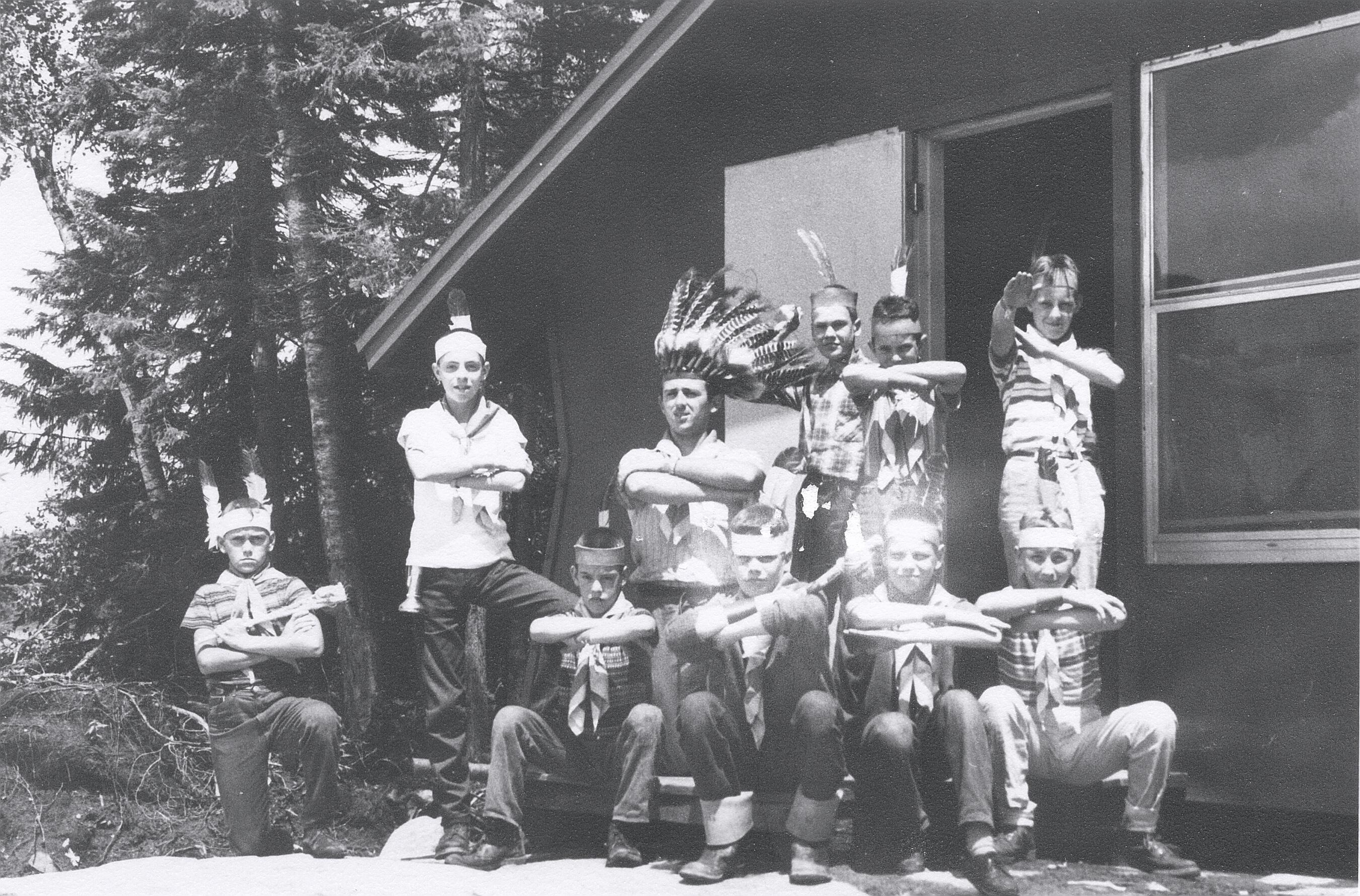 Les premiers campeurs